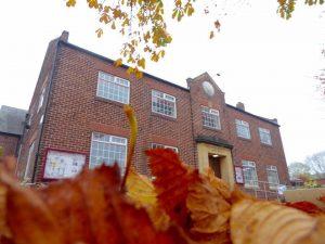 Coxhoe Village Hall in autumn months