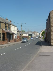 Photograph of main road through Quarrington Hill