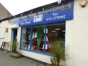 Photograph of Coxhoe Timber Services shop front