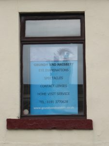 Photo of Grundy and Nesbitt shop window