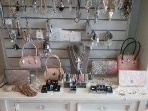 Photograph of accessories from the Adore Shop