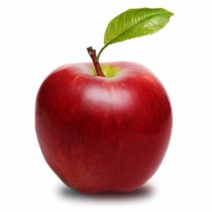 Photograph of an apple
