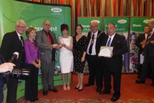 Photograph of Limestone LinX Environmental award presentation