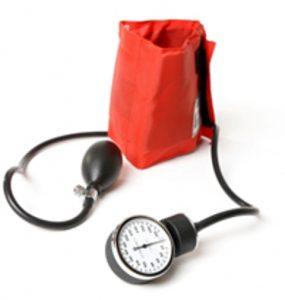 Photograph of a blood pressure monitor
