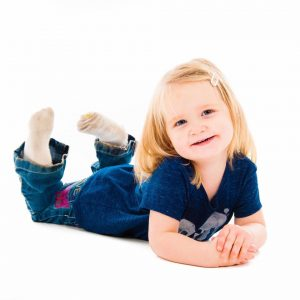 Photograph of child posing for photographer