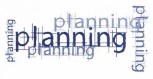 Decorative image with the words planning repeated