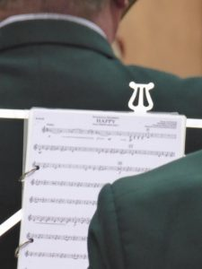 Photograph of sheet music, probably something by Eminem