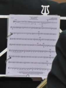 Photograph of music sheet untitled