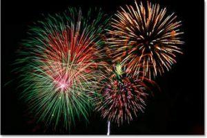 Photographs of fireworks