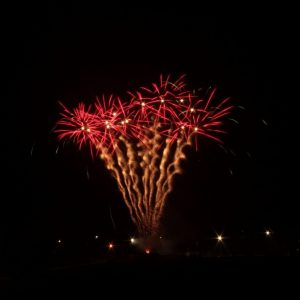 Image of lots of fireworks going off