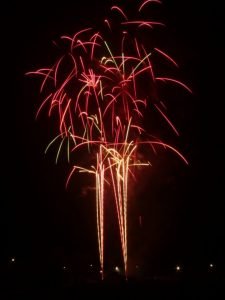 Image of fireworks going off at great height