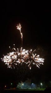 Image of fireworks going off fairly bland