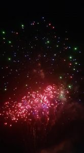Image of firework display taken by Mr Gow