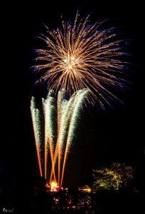 Image of fireworks going off star burst