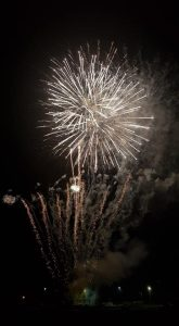 Image of fireworks going off from the event