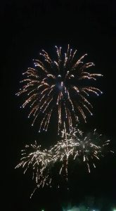 Image of fireworks going off white spray