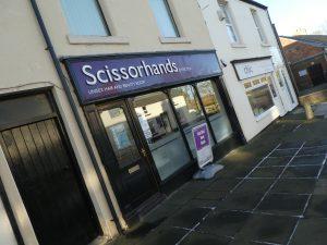 Photograph of Scissorhands shop in Church Street