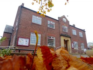 Photo of Village hall in autumn
