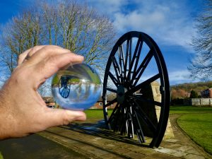 Photo of Pitwheel with glass ball reflection
