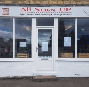Photograph of all sewn up shop