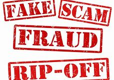 Image showing the words Fake, Scam, fraud and rip off