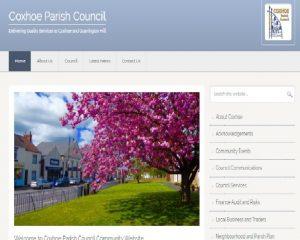 Decorative Photograph of website screen shot April 2020