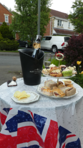 Photograph of of a lovely VE Day tea