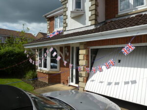 Bunting on  ahouse