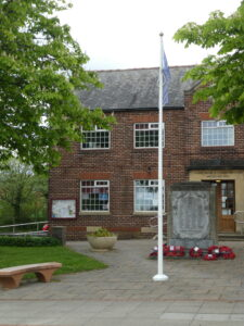 Photograph of Village Hall on VE day