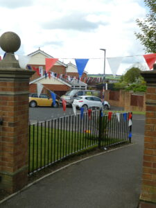 Photograph of Bunting over footpath