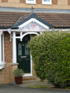 Photograph of bunting on porch