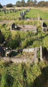 Photo of gravestones in Quarrington Hill Churchyard
