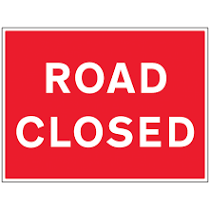 road closed notice